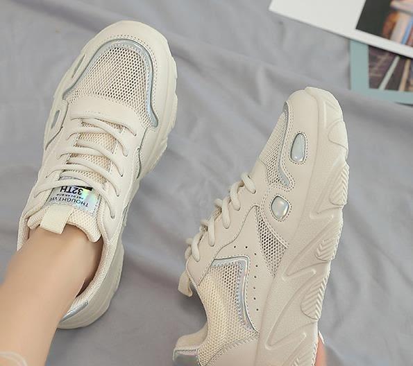 運動鞋女老爹鞋女2019新款夏季網面運動鞋透氣百搭小白鞋女鞋子女潮鞋單鞋