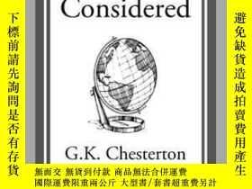 二手書博民逛書店All罕見Things ConsideredY410016 G. K. Chesterton Start Cl
