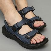 涼鞋越南皮涼鞋男士沙灘鞋新品夏拖鞋學生運動戶外潮流大尺碼休閒鞋
