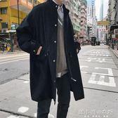 秋季中長款男士百搭chic韓版寬鬆休閒外套潮    韓小姐