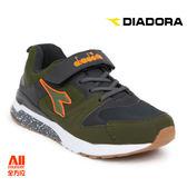 【Diadora 迪亞多那】大童款休閒慢跑鞋 -軍綠色(D6165)全方位跑步概念館