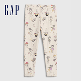Gap女幼童 甜美風格印花彈力針織緊身褲 614511-女孩圖案
