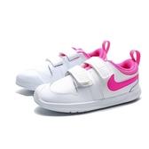 NIKE PICO5 小白鞋 白粉 魔鬼氈 運動鞋 休閒鞋 小童 (布魯克林) AR4162-102