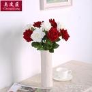 套裝花束假花玫瑰花客廳餐桌擺件花藝插花幹花擺設裝飾 蓓娜衣都
