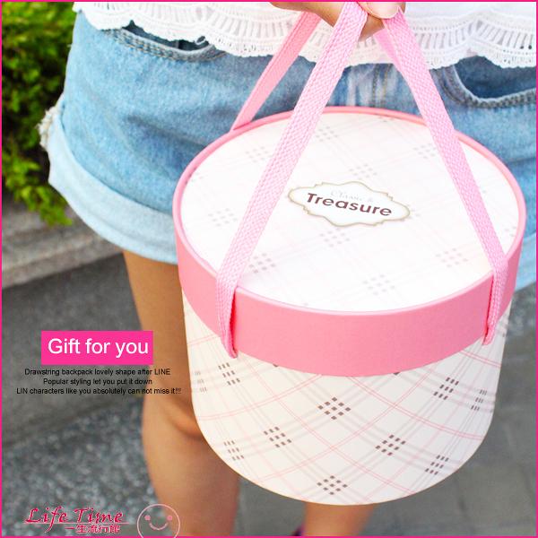 【禮物包裝服務】《經典格紋款》蘇格蘭圓盒 紙盒 生日禮物 情人節禮物 J01001