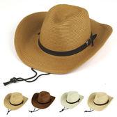草帽 皮帶釦 牛仔帽 爵士帽 可折疊 大帽簷 遮陽 男帽 草帽【JNZ0001】 ENTER  04/12