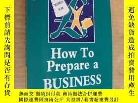 二手書博民逛書店HOW罕見TO PREPARE A BUSINESS PLANY