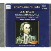 【正版全新CD清倉  4.5折】Bach: Sonatas and Partitas, Vol. 2 Audio CD