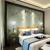 5d中式電視背景墻壁紙現代簡約客廳臥室壁畫奢華裝飾墻紙影視墻布 【Ifashion·全店免運】