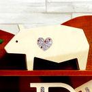 【全館5折】WaBao ZAKKA雜貨 韓國正品動物造型+愛心形水晶家居擺飾 (豬) =K00013=