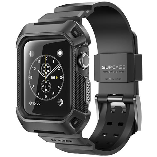 【美國代購-現貨】Apple Watch 2 Case, SUPCASE 42mm保護殻含錶帶 for Apple Watch Series 2 2016 及 2015 Edition