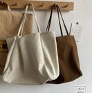 韓版大容量慵懶風ins手拎側背包