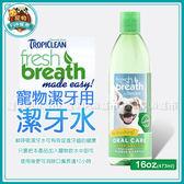 *~寵物FUN城市~*《美國Fresh Breath鮮呼吸》潔牙水16oz(473ml) 寵物用潔牙用品