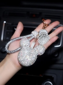 鑲鉆卡通汽車鑰匙扣掛件大眾通用奔馳寶馬奧迪女士鑰匙鏈包扣車飾