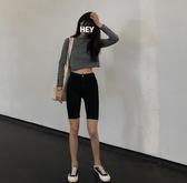新品網紅潮彈力高腰鉛筆緊身五分褲子黑色牛仔短褲女 - 歐美韓熱銷