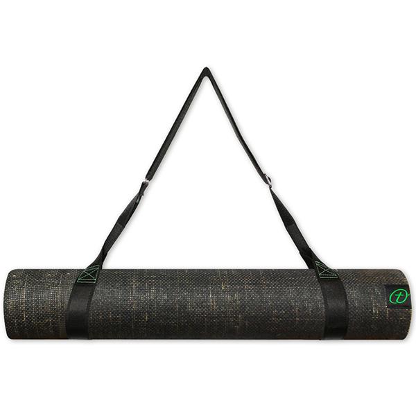Taimat 天然橡膠瑜珈墊 183cm (附簡易揹帶) -靈靜系列 - 黑色