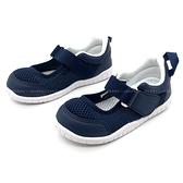 《7+1童鞋》中童 日本IFME 透氣 魔鬼氈 輕量 機能 室內鞋 D457 藍色
