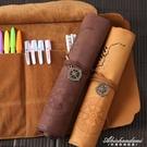 文具盒男女簡約多功能大容量鉛筆簾初中學生小學生創意捲筆袋 黛尼時尚精品