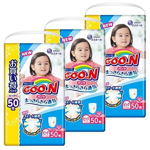 日本 大王製紙 境內版 增量 跳跳褲 拉拉褲 褲型 尿布 50片 女用 (XL)*3包【5104】