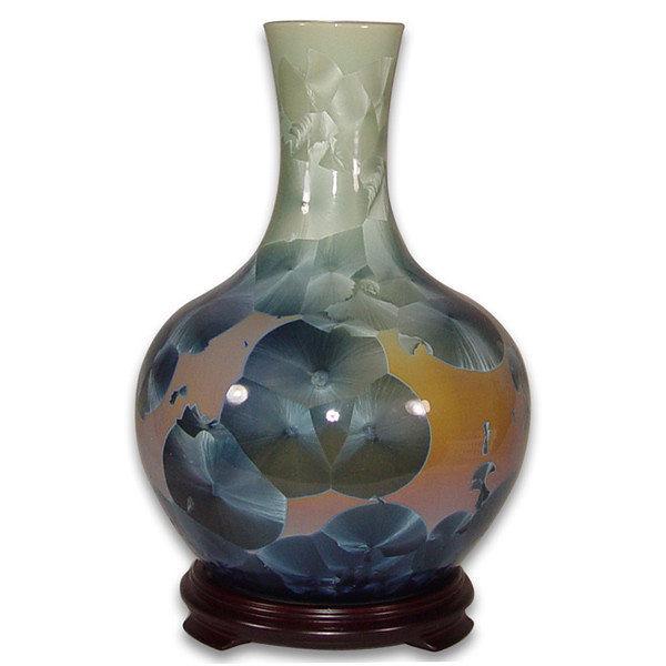 鹿港窯~居家開運結晶釉花瓶~12.2英吋天球瓶;購物清單:1件