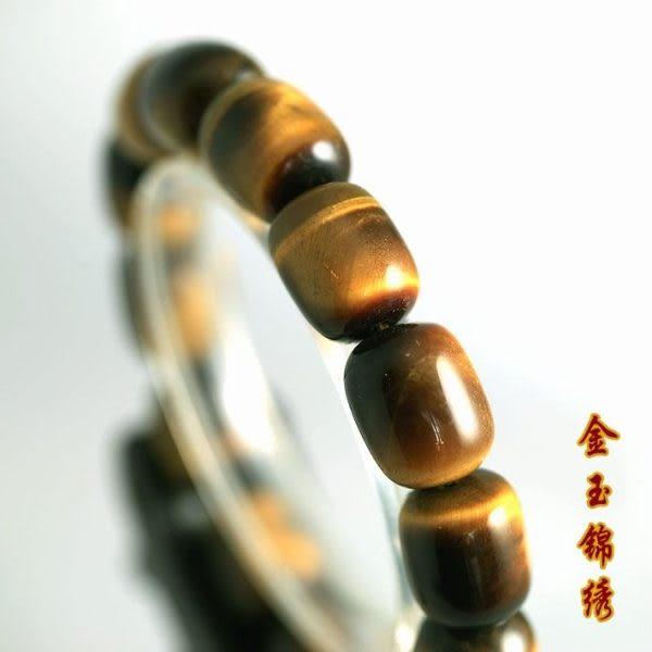 【金玉錦繡】天然 優質 金色虎睛石 手鏈
