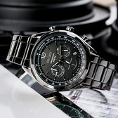 SEIKO 世界第一日本精工 聖夜騎士經典競速三眼計時鋼帶腕錶/IP黑 SSB093P1_M