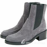 TOD'S 麂皮拼接設計切爾西踝靴(灰色) 1840637-06