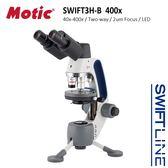 【Motic 麥克奧迪】Swift Line 速捷系列 Swift3H-B Hybrid 400x 雙眼LED蓄電生物實體兩用顯微鏡