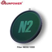 黑熊館 SUNPOWER N2 ND32~ND1000 磁吸式可調多功能濾鏡 67/72/77/82mm 接環可選 預購