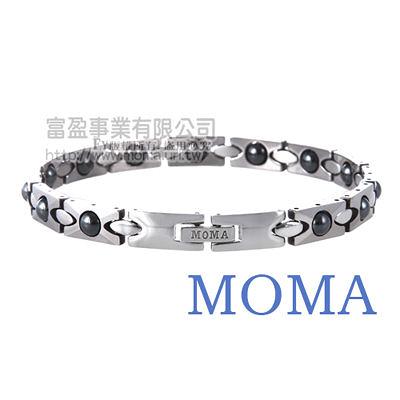 【MOMA】鎢鋼鍺磁手鍊財源滾滾窄版-M86L