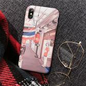 iPhoneX手機殼  可掛繩 日系原宿漫畫少女 矽膠軟殼 蘋果iPhone8X/iPhone7/6Plus