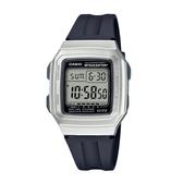 CASIO手錶專賣店 卡西歐 F-201WAM-7A 電子錶 復古時尚電子錶 橡膠錶帶 星空銀 十年電力 生活防水