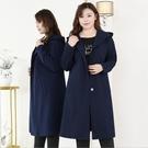特大碼外套 4XL-10XL韓版中長版連帽長袖顯瘦外套 #ls20397 @卡樂@