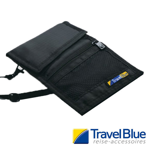 英國Travel Blue藍旅 CarrySafeWallet多功能前掛袋 黑色TB123A 戶外 休閒 旅遊 露營 登山 出國