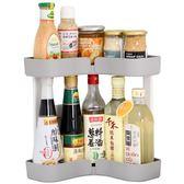 轉角寬型廚房置物架調味瓶架收納落地儲物架雙層架調料用品用具架