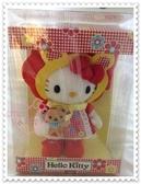 小花花日本精品Hello Kitty 小紅帽公仔立體造型絨布絨毛娃娃玩偶/布偶50033805