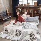 格調棕櫚 D1雙人床包三件組 100%復古純棉 台灣製造 棉床本舖