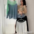 罩衫針織防曬罩衫薄款寬松長袖女裝春季糖果色中長款圓領套頭上衣 快速出貨