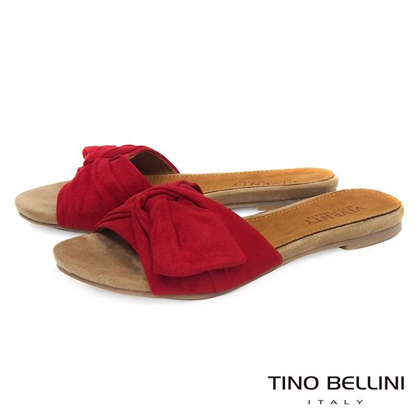 Tino Bellini 浪漫扭結平底涼拖鞋 _紅 B73259  2017SS