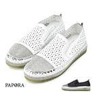 PAPORA時晶鑽鞋頭加厚底休閒鞋K9918-A1黑/白(特惠)