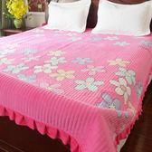 水晶絨床蓋一面絨一面棉雙面床單厚夾棉防滑單珊瑚絨床上鋪毛毯墊【onecity】