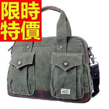 帆布包-水洗多隔層流行可側背男手提包2色59j65[巴黎精品]