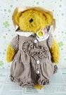 【震撼精品百貨】日本日式精品_熊_Bear~絨毛玩偶-咖啡熊-咖啡格紋