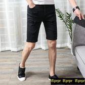 牛仔短褲 牛仔短褲男士白色破洞韓版潮流