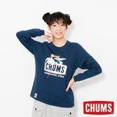 CHUMS 日本 女 Trekking Booby 圓領套頭衫 深藍 CH101092N001