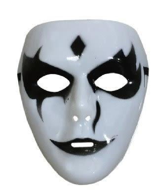 節慶王【W430213】鬼步舞白色面具,魔術表演/搖滾/閃靈/尾牙/重金屬/萬聖節/角色扮演/面罩