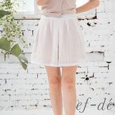 【ef-de】激安 夏日輕透感雙層短褲裙(粉紅)