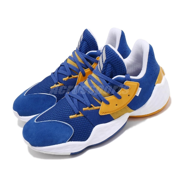 adidas 籃球鞋 Harden Vol.4 GCA Su Casa Warriors 藍 黃 男鞋 運動鞋 【ACS】 FW7497