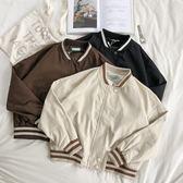 RENA店主自留好質量秋季實用百搭款帥氣短款港味顯瘦棒球服外套