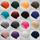 韓版百搭針織帽月子帽女棉包頭帽防曬套頭帽薄款  伊莎公主